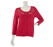 As Is Kelly by Clinton Kelly Button Front Cardigan w/ Bead Detail - A282685