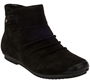 Earth Leather Ankle Boots with Ruching - Bliss - A282885