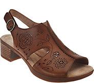 As Is Dansko Embroidered Block Heel Sandals - Lisa - A286485