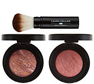 Laura Geller Special Edition Baked Blush Duo w/ Brush - A288185
