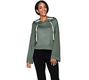 Peace Love World Heathered Knit Cropped Sweatshirt - A288585