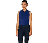 Kathleen Kirkwood Dictrac-Ease Polo Collar Layering Cami - A294585