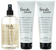 philosophy super-size body spritz and duo of body lotion - A296285