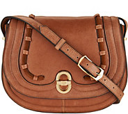 As Is Aimee Kestenberg Vintage Leather Saddle Crossbody - A302285