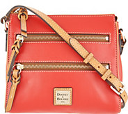 Dooney & Bourke Smooth Leather Triple Zip Crossbody - Peyton - A306585
