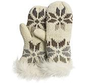 MUK LUKS Womens Snowflake Mittens - A337585