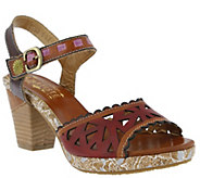 Spring Step LArtiste Leather Sandals - Acela - A339585