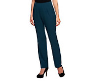 Susan Graver Chelsea Stretch Hollywood Waist Side Zip Regular Pants - A92085