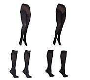 Legacy Touch of Satin Two Tights & Two Trouser Socks Set - A216986