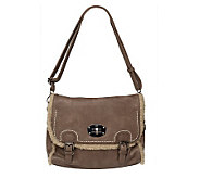 V Couture by Kooba Faux Shearling Messenger Bag - A220286