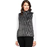 Joan Rivers Faux Fur Vest with Sequins - A225986