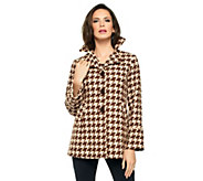 Joan Rivers Houndstooth Swing Jacket - A228286
