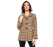 Joan Rivers Houndstooth Swing Jacket
