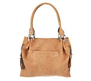 B. Makowsky Sun Washed Croco Embossed Leather Tote - A230986