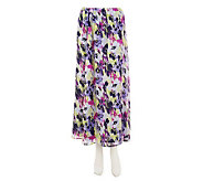 Liz Claiborne New York Floral Printed Crinkle Chiffon Skirt - A232786