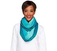 Isaac Mizrahi Live! Ombre Sweater Knit Scarf with Cable Detail - A238186
