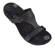 As Is Orthaheel Molly Orthotic Snake Embossed Slide Sandals - A239486
