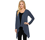 Joan Rivers Luxe Knit Long Sleeve Cardigan with Lace Detail - A239586