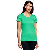 Isaac Mizrahi Live! Essentials Scoop Neck T-Shirt - A240486