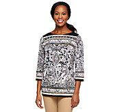 Status by Star Jones Paisley Print Knit Tunic - A252486
