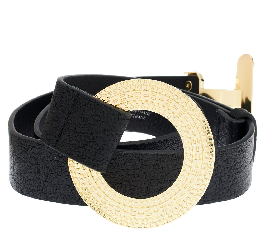 Susan Graver Belt With Textured Toggle Buckle Page 1