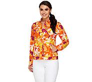 Isaac Mizrahi Live! Floral Print Knit Jacket - A260886