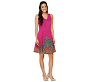 Isaac Mizrahi Live! Neoprene Engineered Paisley Dress - A262086