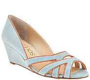Sole Society Suede Open-toe Wedge Sandals - Danna - A263886