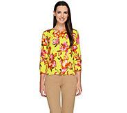 Isaac Mizrahi Live! Tropical Floral Print Cardigan - A264686