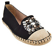 White Mountain Slip-on Espadrille w/ Jewels - - A266686