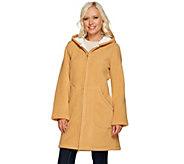 Denim & Co. Long Sleeve Fleece Jacket with Hood - A268086