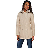 Liz Claiborne New York Packable Double Breasted Trench Coat - A273686