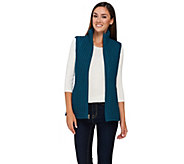 As Is Susan Graver Zip Front Textured Vest with Pockets - A275186