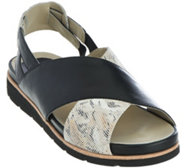 Earthies Leather Cross Strap Sport Sandals - Santorini