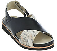Earthies Leather Cross Strap Sport Sandals - Santorini - A277086