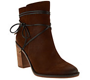 Franco Sarto Block Heel Ankle Boots w/ Strap Detail - Edaline - A281286