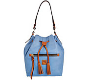 As Is Dooney & Bourke Logan Leather Drawstring Bag - A282586