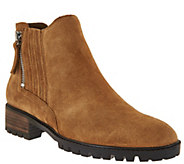 Marc Fisher Leather or Suede Side Zip Ankle Boots - Vortex - A282786