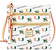 Dooney & Bourke NCAA University of Miami Zip Crossbody - A283486