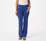 As Is Quacker Factory DreamJeannes Short Pull-On 5 Pocket Pants - A284986