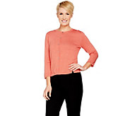 H by Halston Cropped Cardigan with Side Rib Detail - A290686