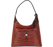 Dooney & Bourke Savannah Croco Embossed Leather Hobo Handbag - A296686