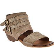As Is Miz Mooz Leather Double Buckle Sandals - Cyrus - A297986