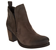 Bos. & Co. Water Resistent Suede Pull on Ankle Boots- Belfield - A299286