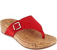 Vionic Suede Platform Sandals - Marbella - A303886