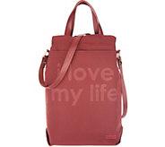 Peace Love World Nylon Wine Tote Bag with Strap - A305186