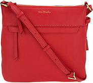 As Is Vera Bradley Sycamore Leather Cross- body-Mallory - A306686