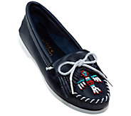 Minnetonka Smooth Leather Moccasins - Thunderbird Boat Moc - A332786
