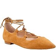 Sole Society Lace-up Pointed Toe Flats - Georgina - A355286