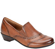 Comfortiva by Softspots Burnished Leather Slip-ons - Rose - A355386